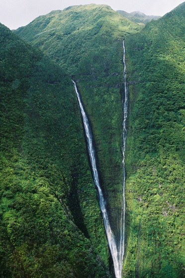 Waterfall by Helicopter