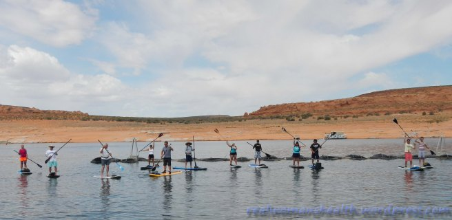 Group SUP at Antelope Point