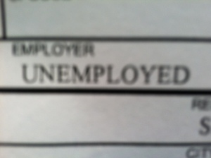 A bit of a chuckle yesterday when I saw this on a form.  I felt mysterious as no one could define me by my listed job.