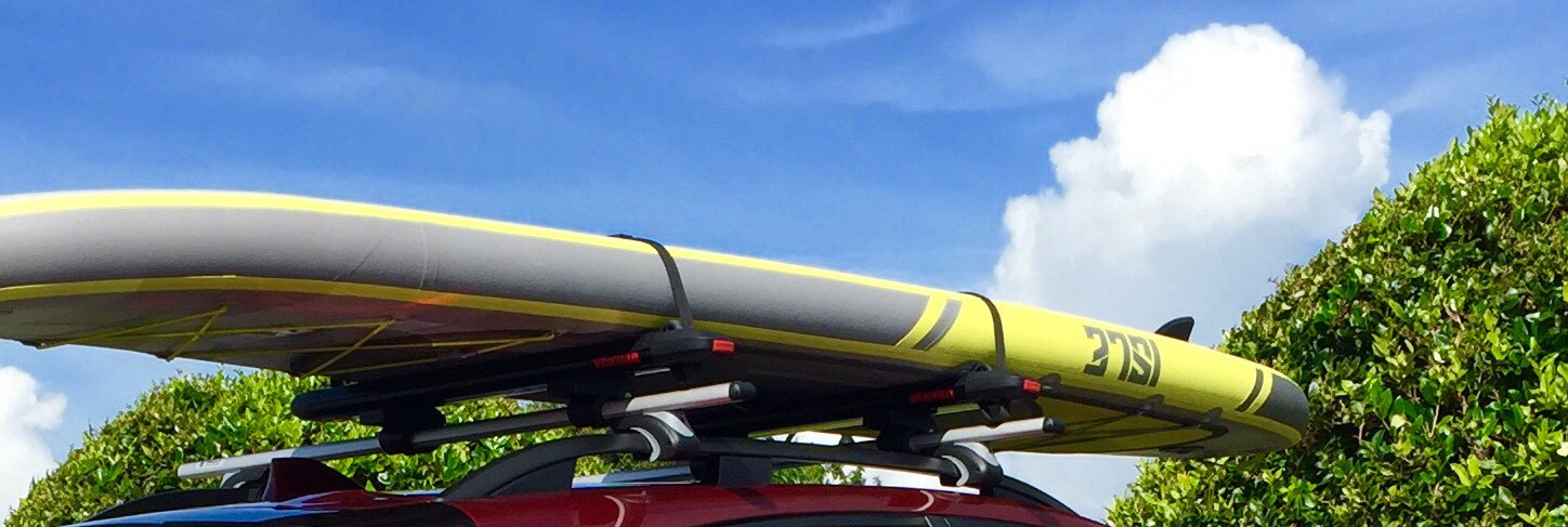 Paddleboard on car roof